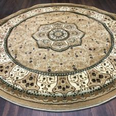 STUNNIG 150X150CM CIRCLE RUGS WOVEN BACK HAND CARVED BEIGES NEW RANGE RUGS/MATS